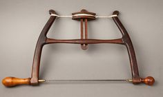 Fabulous! Extra Curvy and Contoured 12 inch Bow Saw with Boxwood Handles