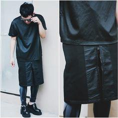 Ebay Neoprene Skirt, Jeffie Robo Leggings, Proudrace Satin Shirt, Jeffrey Campbell Siobhan Lace Ups