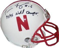Tommie Frazier Signed Mini Helmet with 94/95 National Champs Inscription #SportsMemorabilia #NebraskaCornhuskers