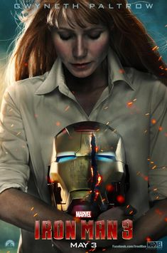 Iron Man 3 Character Poster: Gwyneth Paltrow Holds Busted Helmet