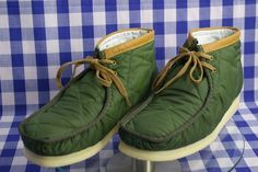 New Clarks Originals Mens ** Wallabees Boots ** Green Quilted ** UK 9 in Clothes, Shoes & Accessories | eBay