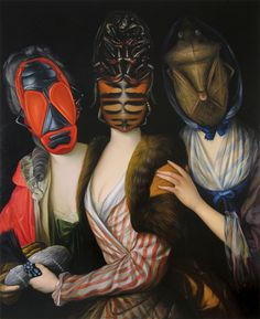 <p>Polish artist Ewa Juszkiewicz reshapes classical paintings into her own surreal interpretation. The classical style of painting depicts women in the fashion of the time except for a peculiar twist.