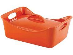 Rachael Ray Stoneware 3.5-qt. Rectangular Covered Casserole: Orange at Rachael Ray Store