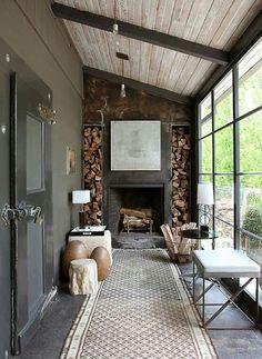 landelijk industrieel rustic industrial woonkamer living room