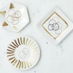 Gold detailed ring dishes by Object Enthusiast