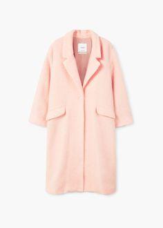 Mohair wool-blend coat