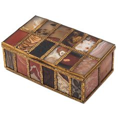 Exquisite Italian Specimen Agate and Quartz Box circa 1800 | From a unique collection of antique and modern boxes at http://www.1stdibs.com/furniture/more-furniture-collectibles/boxes/