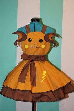 Raichu -Pokemon- Gijinka Cosplay Pinafore Commission  By Darling Army