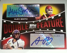 AARON RODGERS/ALEX SMITH 2005 TOPPS DPP DOUBLE FEATURE ROOKIE RARE COLLEGE ISSUE #GREENBAYSANFRANCISCO