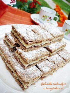 Gabriella kalandjai a konyhában :): Lemezes linzer - házi cseresznyelekvárral Winter Food, Apple Pie, Tiramisu, Cookie Recipes, Biscotti, Bakery, Food And Drink, Sweets, Snacks