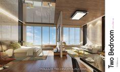 contoh interior design apartemen Pollux Technopolis Karawang tipe 2 BR.