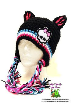 Double threaded thick crochet monster high hat