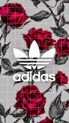 #roses #red #black #adidas #wallpaper #iphone