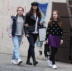 Looking cool:The former child actress made sure to put on a 'cool' display of style with ...