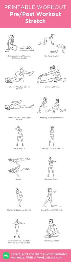 Pre/Post Workout Stretch– my custom exercise plan