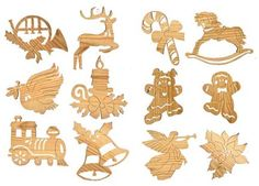 scroll saw christmas ornament patterns free - Google Search ...