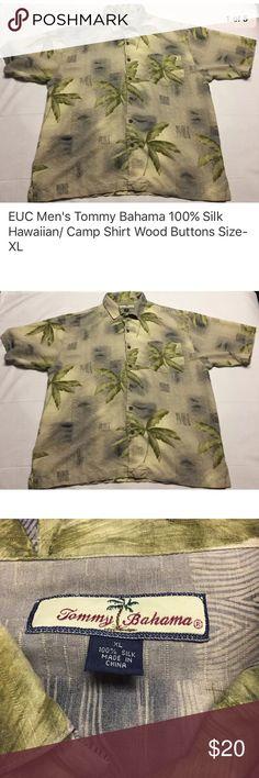 411a91f1 Tommy Bahama silk Hawaiian shirt in green XL Tommy Bahama Hawaiian/Camp  style silk shirt