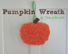 DIY Halloween: DIY Pumpkin Wreath : DIY Home Decor
