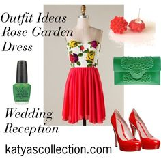 """""""Rose Garden Dress - Wedding Reception Outfit"""" by mstravesura on Polyvore"""