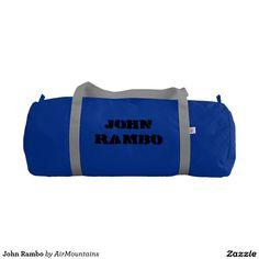 Your Custom Duffle Gym Bag, Regatta Blue with Silver straps
