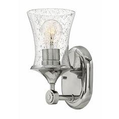 100 watt bulb H51800PN Thistledown 1 Bulb Wall Sconce - Polished Nickel at Shop.Ferguson.com
