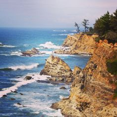 View from Cape Arago State Park near Charleston, Oregon.