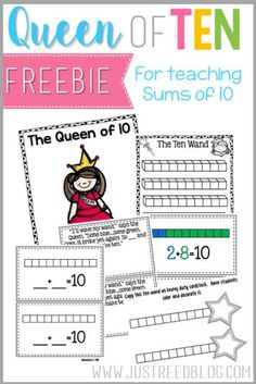 The Queen of Ten is a fun way to introduce your students to sums of ten. This freebie is perfect for implementing the Queen into your number sense routines!