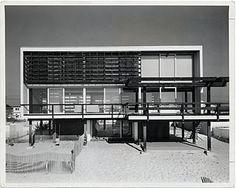 McMullen Beach House, Mantoloking, New Jersey. Marcel Breuer and Herbert Beckhard (nyc-architecture. New York Architecture, Architecture Images, Sustainable Architecture, Residential Architecture, Contemporary Architecture, Amazing Architecture, Pavilion Architecture, Vintage Architecture, Building Architecture