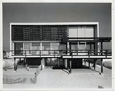 Beach house by Marcel Breuer with Herbert Beckhard, Mantoloking, New Jersey, early 1960s.