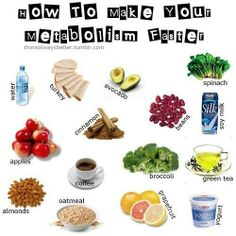 Foods and drinks which help to boost your metabolism. #diet #fitness #health