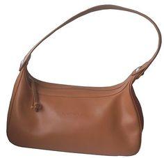 Longchamp Tan Leather Handbag - Sac Baguette en cuir lisse camel - bag