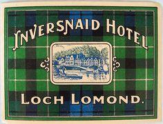 luggage label for inversnaid hotel. via anthology magazine.