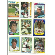 Huge lot of 40 + HOF ROD CAREW Baseball cards lot 1977 - 2013 Twins Angels Listing in the 1970-1979,Lots,MLB,Baseball,Sports Cards,Sport Memorabilia & Cards Category on eBid United States | 147730191