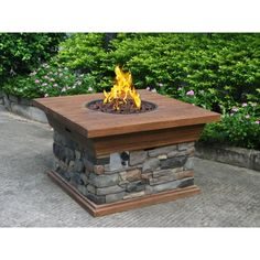 This fire pit is awesome! Why mess with wood and dirty up your outdoor patio? Go with this Yosemite Propane Fire Pit, a beautiful addition to your outdoor space. Outdoor Propane Fire Pit, Outdoor Fire, Outdoor Heaters, Outdoor Retreat, Copper Fire Pit, Backyard Creations, Fire Pots, Fire Pit Furniture, Deck Furniture