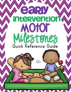 Early Intervention Motor Milestones - Awesome breakdown of gross motor, fine motor, dressing, and ball skills.  Perfect for a quick reference to have on hand or to use as handouts for parents!