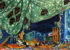Projet de décor de Schéhérazade, Léon Bakst. 1910.