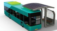 Solar Bus Stop uses induction charging to power electric public transport