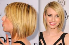 The Best Long Bob Hairstyles: Emma Roberts' Graduated Bob