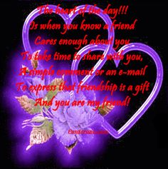 Have a Heartful Day! quote day heart purple friend friendship quote friend greeting day greeting