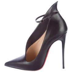 03e5021eb7a3 View this item and discover similar heels for sale at - CURATOR S NOTES  Christian Louboutin New Sold Out Black Leather CutOut Ankle Boots Booties  in Box ...