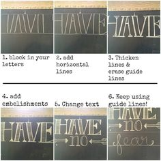 How-to chalkboard hand lettering