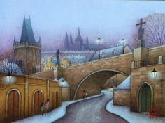 Perspective Art, I Love Winter, Building Art, Old English, Winter Theme, Illustration Art, Illustrations, Landscape Paintings, Amazing Art