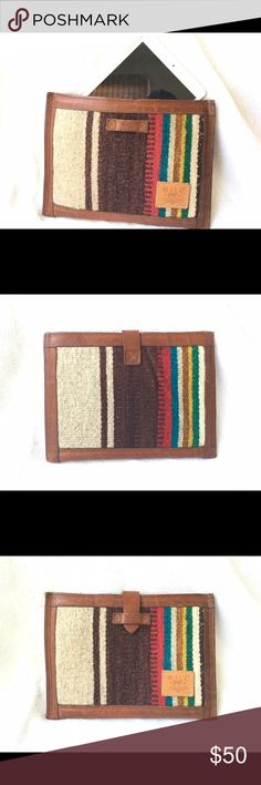 WILL Leather Goods Oaxacan iPad / Kindle Case One of a kind Oaxacan textile and genuine leather trim electronics carrying case.  Padded for your devices protection. Fits up to 11 in laptops. Will Leather Goods Bags Laptop Bags