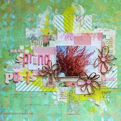 Spring in Paris by Riikka Kovasin for Scrap365 / Kreinik