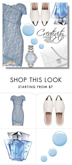 """""""Be amazing"""" by fashion-pol ❤ liked on Polyvore featuring Lover, Miu Miu, Thierry Mugler, Topshop and Geneva"""