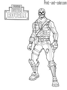 Fortnite Battle Royale Coloring Page Cuddle Team Leader