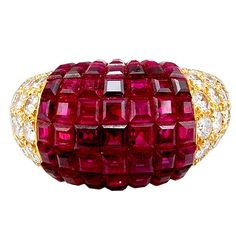 VAN CLEEF & ARPELS Mystery-Set Ruby 'Boule' Ring, USA Circa1980