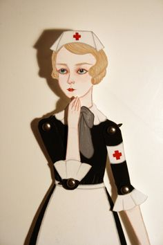 Image result for trade card cone paper doll