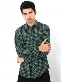 #UCB #Men #Green Spread Collar Shirt