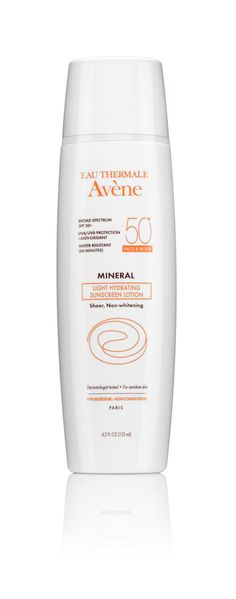 The 12 Best Face Sunscreens: TO SOOTHE SKIN: With glycerin to provide all-day moisture, this mineral sunscreen also boasts Avène's signature thermal water to provide skin-calming benefits and the antioxidant vitamin E.  It's paraben- and oil-free too. Avène Mineral Light Hydrating Sunscreen Lotion SPF 50+, $36; Aveneusa.com.